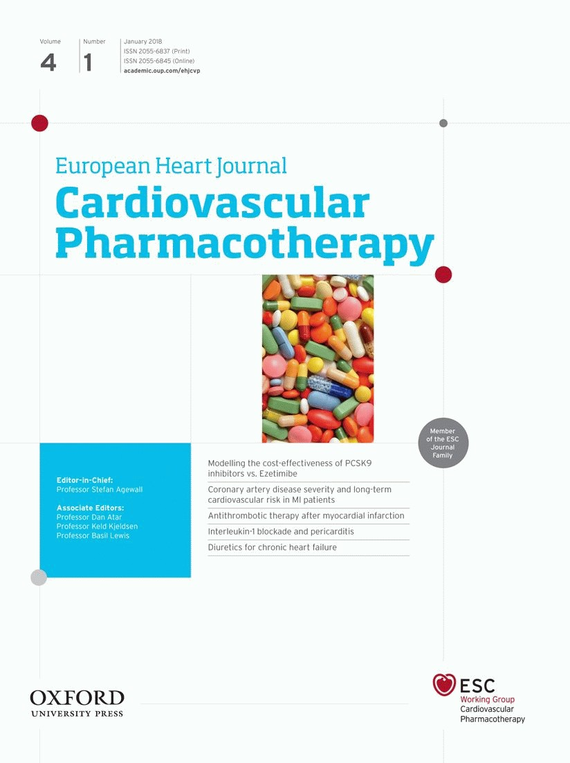 European Heart Journal. Cardiovascular Pharmacotherapy