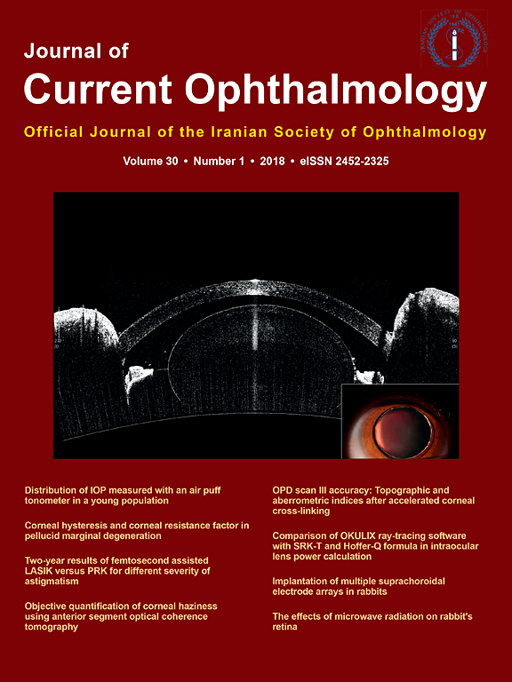 Journal of Current Ophthalmology