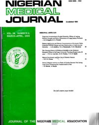 Nigerian Medical Journal