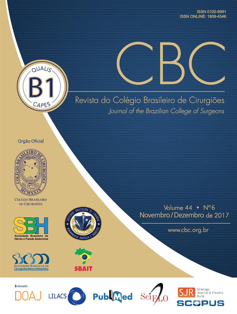 Revista do Colégio Brasileiro de Cirurgiões