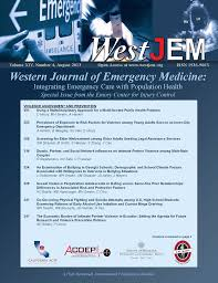 The western journal of emergency medicine